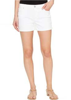 Hudson Jeans Hudson Asha Mid-Rise Cuffed Five-Pocket Shorts in White