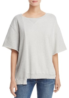 Hudson Jeans Hudson Asymmetric Color-Block Sweatshirt