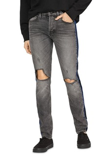Hudson Jeans Hudson Axl Skinny Fit Poly Side Seam Jeans in Back Court
