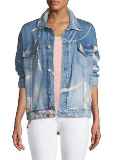 Hudson Jeans Bandit Floral Denim Trucker Jacket