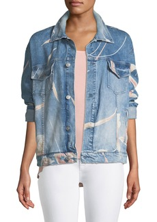 Hudson Jeans Hudson Bandit Floral Denim Trucker Jacket