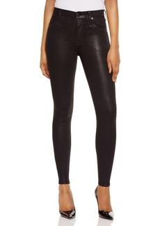Hudson Barbara Coated Super Skinny Jeans in Noir