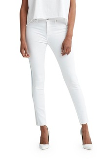 Hudson Jeans Hudson Barbara High-Rise Ankle Raw-Hem Jeans with Ombre Stripe