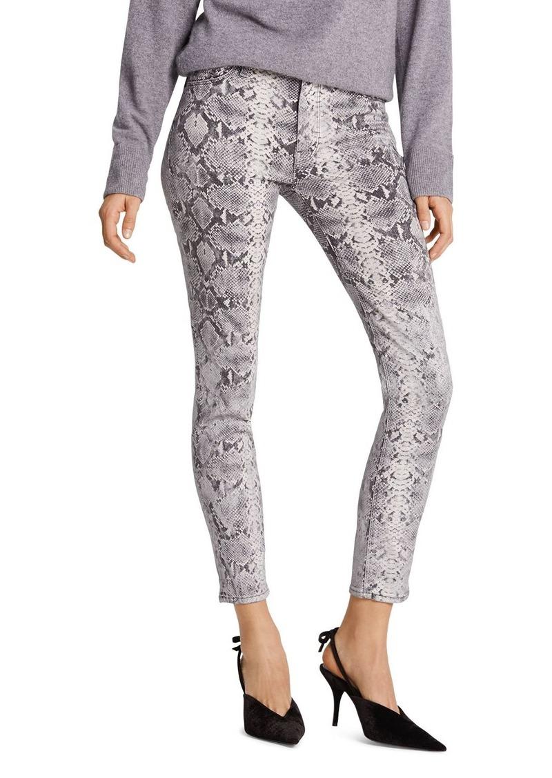 Hudson Jeans Hudson Barbara High-Rise Ankle Skinny Jeans in Python