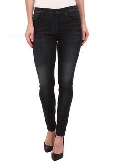 Hudson Barbara High Rise Skinny Jeans in Blackbird