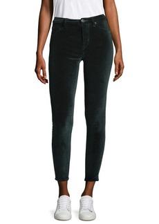 Barbara High-Rise Skinny Velvet Jeans