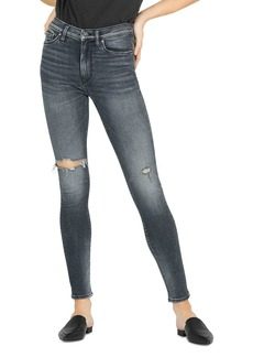 Hudson Jeans Hudson Barbara High Rise Super Skinny Jeans in Out Of Sight