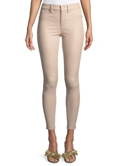 Hudson Jeans Barbara High-Rise Super-Skinny Leather Pants