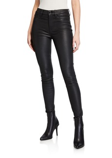 Hudson Jeans Hudson Barbara High-Rise Super Skinny Leather Pants