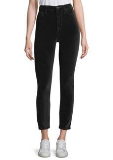Hudson Jeans Barbara High-Rise Velvet Ankle Pants