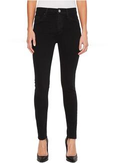 Hudson Barbara High-Waist Ankle Raw Hem Skinny Jeans in Maniac