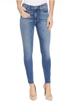 Hudson Barbara High Waist Ankle Raw Hem Super Skinny Five-Pocket Jeans in Traverse
