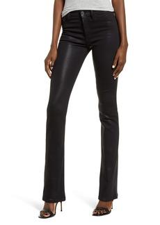 Hudson Jeans Hudson Barbara High Waist Bootcut Coated Jeans (Noir Coated)