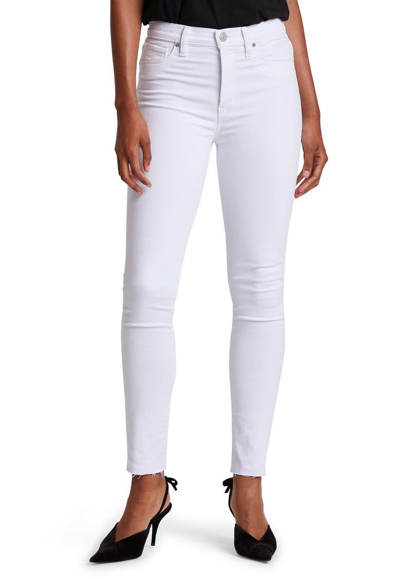 Hudson Jeans Hudson Barbara High Waist Raw Hem Ankle Skinny Jeans