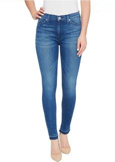 Hudson Barbara High Waist Super Skinny Ankle Five-Pocket Jeans in Blue Riot