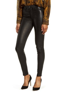 Hudson Jeans Hudson Barbara High Waist Super Skinny Leather Pants