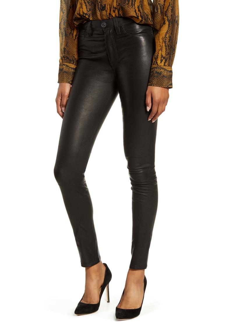 Hudson Jeans Hudson Barbara High Waist Super Skinny Leather Pants