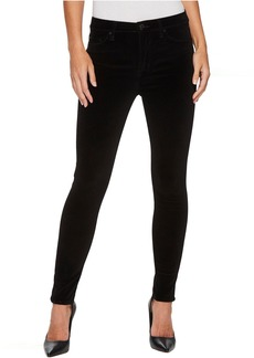 Hudson Barbara High-Waist Super Skinny Velvet Jeans in Black Star