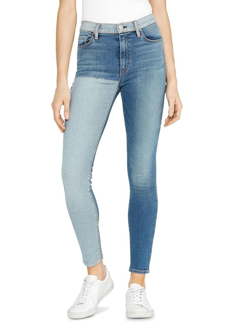 Hudson Jeans Hudson Barbara Reverse Panel Jeans in Inverted Indigo