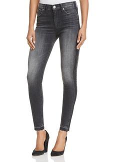 Hudson Barbara Side Stripe Skinny Jeans in Onix