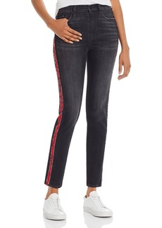 Hudson Jeans Hudson Barbara Track Stripe Skinny Jeans in After Dark