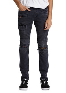 Hudson Jeans Hudson Blind Biker Skinny Fit Jeans in Full Court