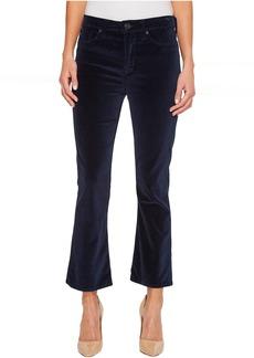 Hudson Brix High-Rise Cropped Boot Velvet Jeans in Dark Obsidian
