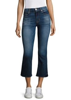Hudson Jeans Brix High-Rise Cropped Flared Jeans