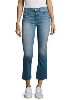 Hudson Jeans Hudson Brix High-Rise Cropped Flared Jeans