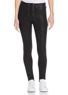 Hudson Jeans Hudson Bullocks Coated Super Skinny Jeans in Black