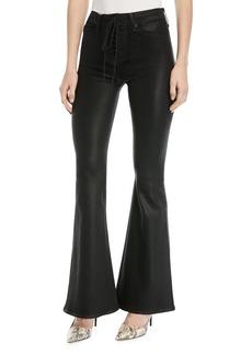 Hudson Jeans Hudson Bullocks High-Rise Lace-Up Flared-Leg Jeans
