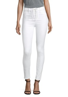 Bullocks High-Rise Lace-Up Super Skinny Jeans