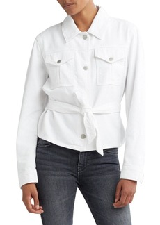 Hudson Jeans Hudson Button-Front Military Tie Top