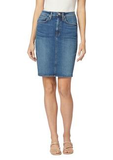 Hudson Jeans Hudson Centerfold Extreme High Rise Denim Skirt in Temptations