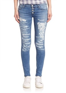 Hudson Ciara Distressed Super Skinny Jeans