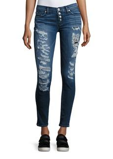 Hudson Ciara Distressed Super Skinny Jeans