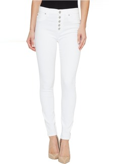 Hudson Ciara High-Rise Ankle Super Skinny Buttonfly Five-Pocket Jeans in White