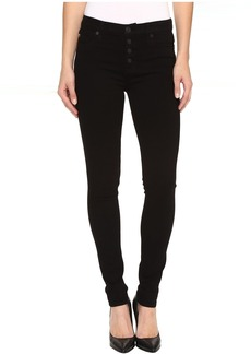 Hudson Ciara Super Skinny Exposed Buttons Jeans in Black