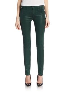 Hudson Jeans Coated Mid-Rise Super-Skinny Jeans
