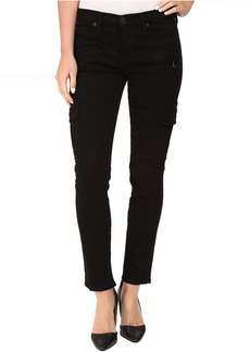 Colby Ankle Moto Skinny Cargo in Black
