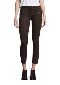 Hudson Colby Distressed Moto Skinny Cargo Jeans