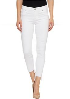 Hudson Colette Mid-Rise Skinny with Raw Step Hem in White