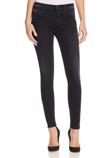 Hudson Collin Flap Pocket Skinny Jeans in Hard Lines