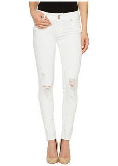 Hudson Collin Mid-Rise Skinny Flap Pocket Jeans in Demolish