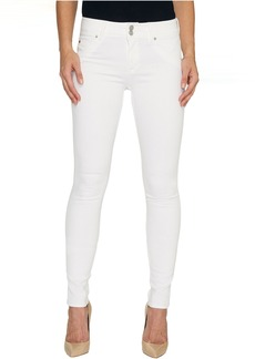 Hudson Collin Mid-Rise Skinny Flap Pocket Jeans in White