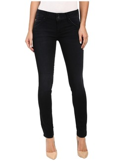 Hudson Collin Mid-Rise Skinny in Washed Black in Hardline