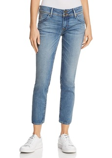 Hudson Collin Mid Rise Skinny Jeans in Hushed