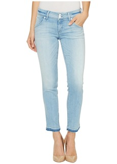 Hudson Collin Skinny Crop Released Hem Flap Pocket Jeans in Light Azure