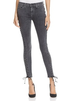 Hudson Contour Lace-Up Jeans in Vacant - 100% Exclusive