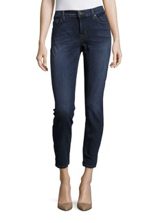 Hudson Cotton Blend Cropped Denim Pants